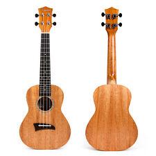 Solid Mahogany Top Concert Ukulele Hawaii Guitar Rosewood Bridge Matt 23 inch
