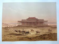 Lithographie 1870  CANAL DE SUEZ Chalet du vice-roi Egypte Orientalisme egypt