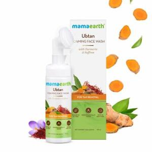 Mamaearth Ubtan Foaming Face Wash with Brush with Turmeric & Saffron 150ml