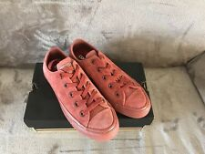 Womens Converse Red Suede Low Shoes UK Size 4 New In Box