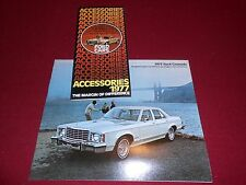 1977 FORD GRANADA BROCHURE + '77 GRANADA ACCESSORIES CATALOG, 2 For 1 Deal!