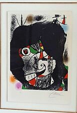 "JOAN MIRO Original Signed COLOR Lithograph Artwork Abstract - Inscribed: ""HC"""