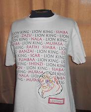VTG 90s Disney Lion King - Embroidered Simba - Beige Shirt - Nala - Made USA -M