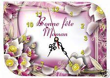 horloge fête des mères bonne fête maman réf FM18 avec prénom personnalisable