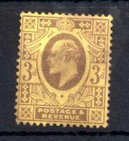 GB KEVII 1902-10 3d lemon mint VLHM #232 WS13805