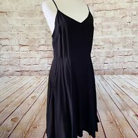 Gap Womens Smocked Spaghetti Strap Cami Dress Size M Solid Black