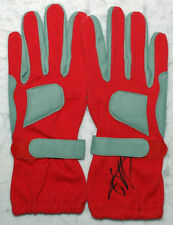 Sebastian Vettel Signed Red Racing Gloves Pair