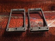 Guilford Ebony Tapered Humbucker Pickup Ring Set PRS- Recessed Height Holes USA