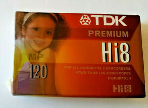 TDK HI8  Camcorder Tape NEW SEALED MP Premium 120 MInutes