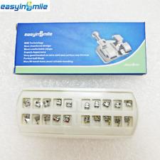 Easyinsmile orthodontic brackets 018 MBT mini 1 pack of 20 Braces 3 Wi/Hooks USA
