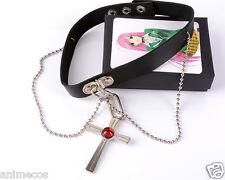 Rosario Vampire Rosavam Moka Akashiya Cross Choker Necklace Pendant  New in Box