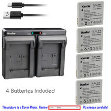 Kastar Battery Dual Charger for Canon NB-4L NB-4LH & Canon PowerShot ELPH 300 HS