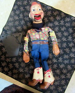 1950s Original Howdy Doody Marionette Puppet with Tangled Strings Excellent Cond