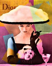 Popart Canvas Dior Classic  Haute Couture   Pop art   Print
