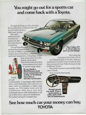 1973 Toyota Celica ST Blue Sports Car Original Color Vintage Print Ad