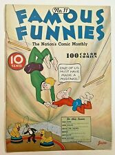 Famous Funnies #11 (Cover Only) Eastern Color Printing Company