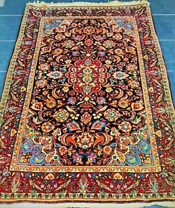 Authentic Hand Knotted Vintage Persian Sarouk Rug (105 cm x 155 cm)