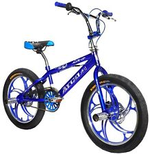 "ATCO Brand New 20"" BMX Bicycle Bike disc brake 3.0 tyres Aluminium Wheels-Blue"