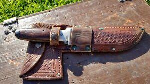 Vintage CASE TESTED XX 1935 Knife / Hatchet Combo Set with Sheath Axe BEAUTIFUL
