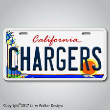 Chargers Aluminum License Plate Tag New