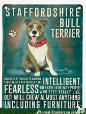 Vintage Style Metal Staffordshire Bull Terrier Staffy Staffie Sign Plaque 20cm