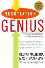 Negotiation Genius: How to Overcome Obstacles and Achieve Brilliant Results at t