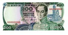 Colombia ... P-417as ... 200 Pesos Oro ... 20.7.1974 ... *UNC* ... Specimen