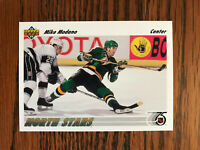 1991-92 Upper Deck #160 Mike Modano Hockey Card Minnesota North Stars NHL Raw