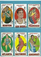 1969-70 Topps Starter Set Lot of 57 Different Basketball Cards