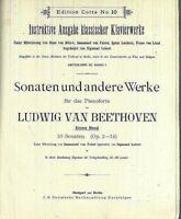 Beethoven ~ Sonaten Erster Band 10 Sonaten Op. 2 - 14  ~ privat gebunden