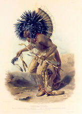 Costume of the Dog Dance Warrior 22x30 Karl Bodmer Native American Indian Art