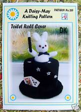 TOILET ROLL COVER KNITTING PATTERN by DAISY MAY TOP HAT 265