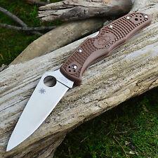 Spyderco Endura 4 Flat Ground Brown FRN Handle Knife VG-10 C10FPBN
