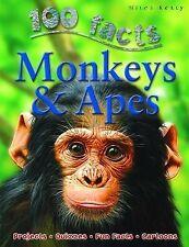 New, Monkeys and Apes (100 Facts), Camilla de la Bedoyere, Book