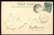 Islas del Canal de Jersey 1902 PPC St Martins recibir PMK + Super Jersey Squared