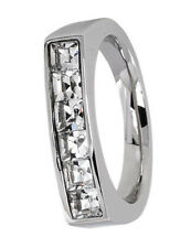 "Ring Größe 20  /""Black Crystal/"" Messing schwarz rhodininiert"