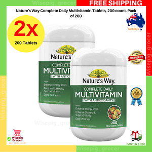 2x Nature's Way Complete Daily Multivitamin 200 Tablets w/ Antioxidants NEW AU