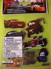 NEW 8 pc DISNEY PIXAR CARS 2 METALLIC MIX TowMater Lightning JOLEE'S 3D Stickers