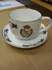 C1970/80's Real Madrid: Tazza & Piattino, Design Decorativo con finiture oro, sconosciuto