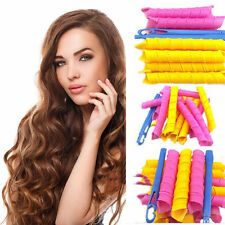 18Pcs Mix Size Hair Rollers DIY Curlers Magic Circle Twist Spiral Styling Tools