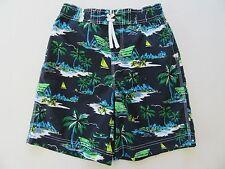 Boy's Swim Shorts 7/8 Pre-Teen Kids Beach Pool Surf Boxer Trunks Elastic Waist