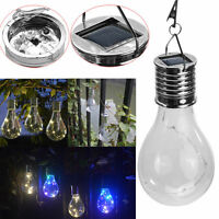 Waterproof Solar Rotatable Outdoor Garden Camping Hanging LED Light Lamp Bulb L7
