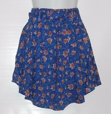 H&M Ladies Short Woven Fabric Floral Skirt Blue Two (2) NWT