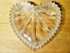 Wedgwood 2 Piece Glass Heart Sticker & Etched Wedgwood Nwt New Without Box