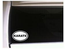 """Karate Oval Car Decal Vinyl Sticker 6"""" L32 Kick Sports Team Fight"""