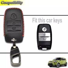Kia Rio Ceed Soul Sportage Sorento Picanto Optima Smart Key Leather Cover Case