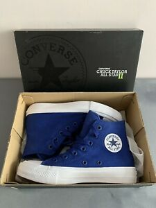 Converse Taylor 2 All Star Blue Size UK 3.5 Boys Trainers Hi Top Junior Shoes