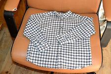 chemise bonpoint 6 ans carreaux gris bleu blanc
