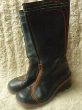 Unbranded Wedge 100% Leather Boots for Women