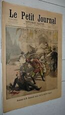PETIT JOURNAL 1895 ASSASSINAT STAMBOLOV SOFIA BULGARIE / RAFLE HOTELS GARNIS